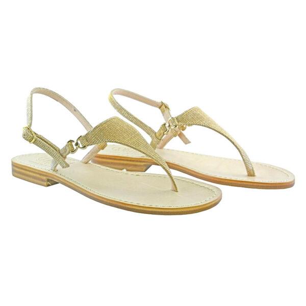 Sandalo Donna modello glitter - Corium Sandali Sorrento