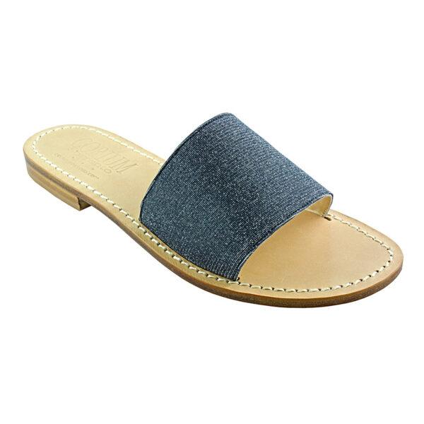 Fascetta - Sandalo glitter nero