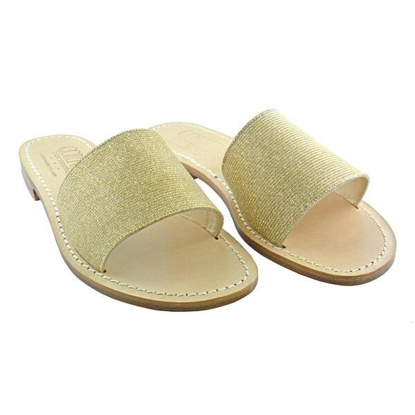 Fascetta - Sandalo glitter oro