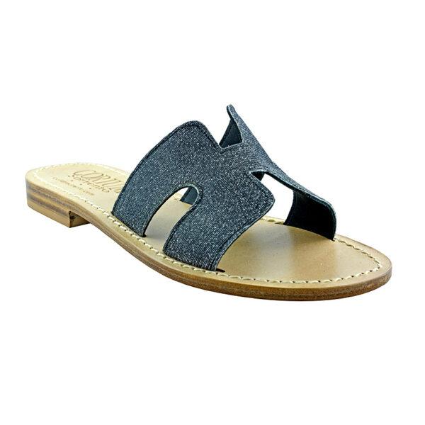 Hakka - Sandalo glitter nero