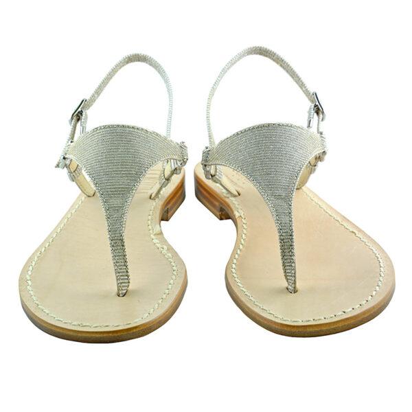 Triangolino - Sandalo glitter argento