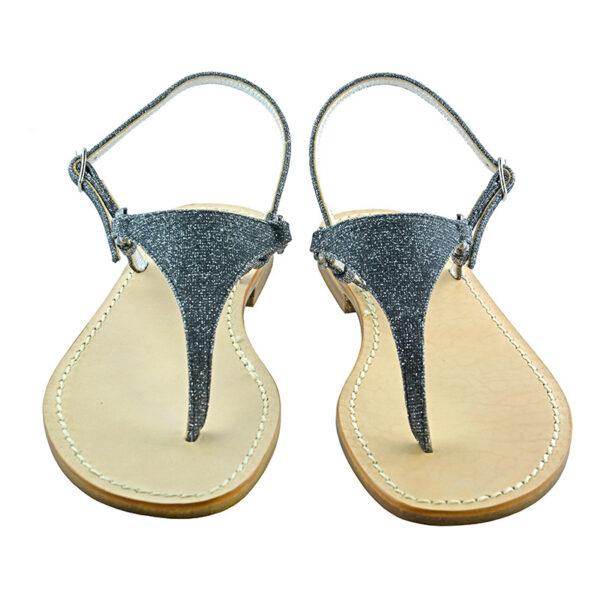 Triangolino - Sandalo glitter nero