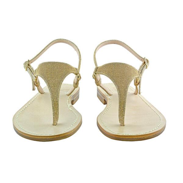 Triangolino - Sandalo glitter oro