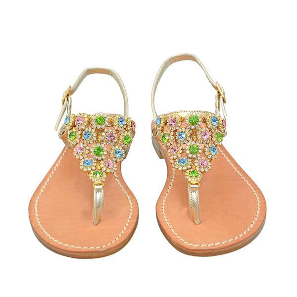 Arlecchino - Sandalo donna impreziosito da cristalli