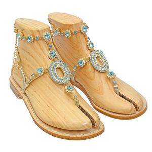 Osiride - Sandalo donna impreziosito da cristalli