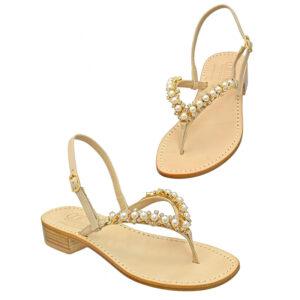 Perla - Sandalo donna impreziosito da cristalli