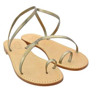 Spirale - Sandalo donna in pelle
