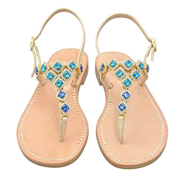 Zaira - Sandalo donna impreziosito da cristalli