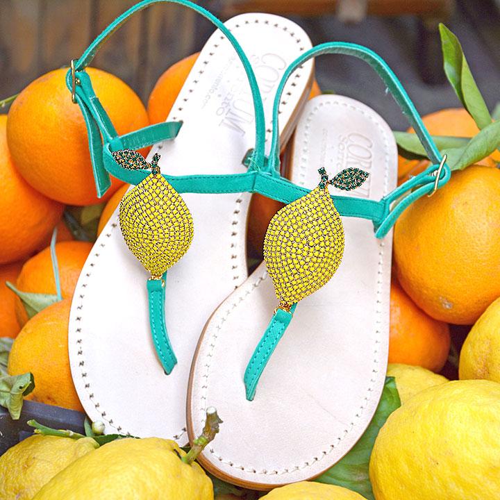 Lemon - Sandalo donna artigianale - Corium Sorrento