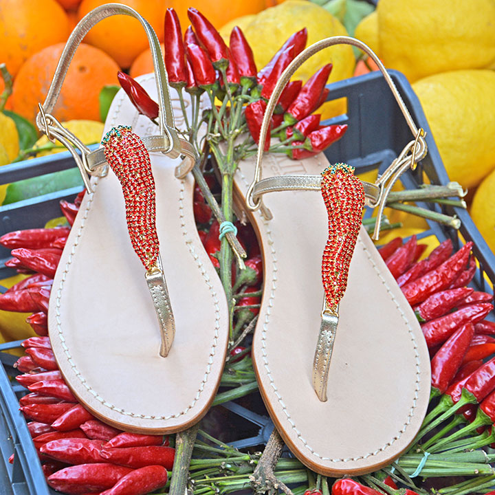 Peppers - Sandalo donna artigianale - Corium Sorrento